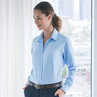 Henbury Womens Wicking Antibacterial Long Sleeve Shirt