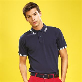 Asquith & Fox Mens Classic Fit - Tipped Polo