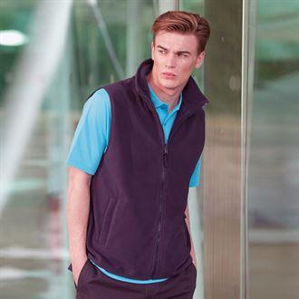 Henbury Sleeveless Microfleece Jacket
